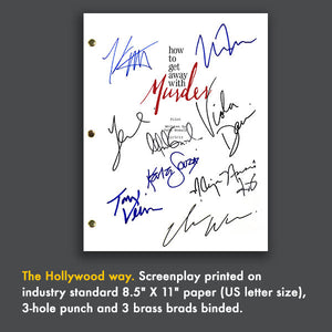 How To Get Away From Murder - TV Script Screenplay Signed Autograph Reprint - Viola Davis - Alfred Enoch - Aja Naomi King
