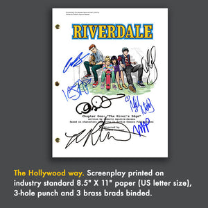 Riverdale Signed Autographed TV Pilot Screenplay - KJ Apa - Lili Reinhart - Cole Sprouse - Madelaine Petsch