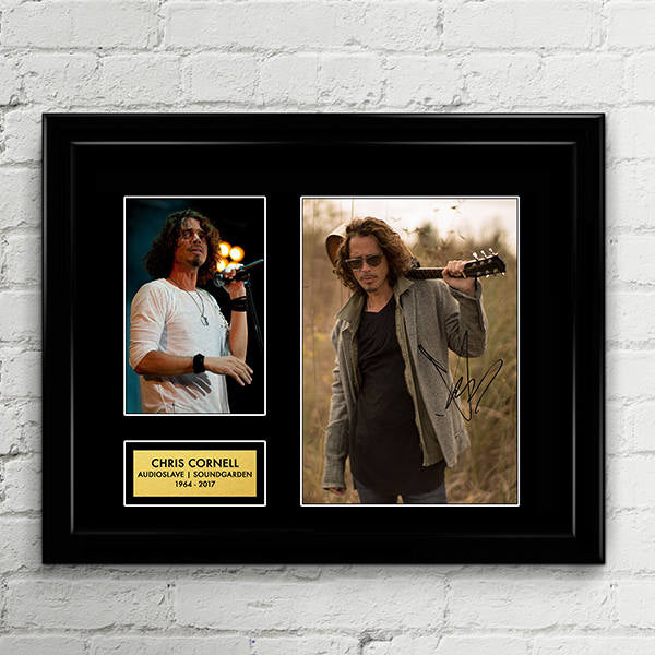 Chris Cornell Autograph - Poster Signed Art Print Artwork - Grammy Billboard - Lead Vocalist Soundgarden Audioslave - Black Hole Sun