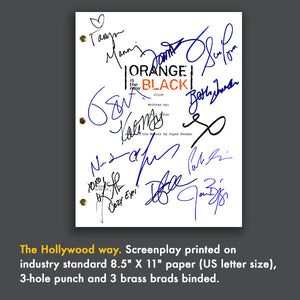 Orange Is The New Black Pilot TV Script - Screenplay Signed Autograph Reprint - Taylor Schilling, Kate Mulgrew, Laura Prepon - Litchfield