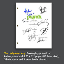 "Psych - Episode ""American Duos"" TV Script Screenplay Signed Autograph Reprint - James Roday, Dule Hill, Timothy Omundson, Corbin Bernsen"