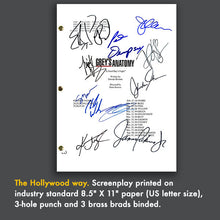 Grey's Anatomy TV Show Pilot Script Card Gift Screenplay - Signed Autograph Reprint - Ellen Pompeo, Patrick Dempsey, Katherine Heigl