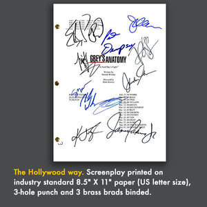 Grey's Anatomy TV Signed Script Screenplay - Ellen Pompeo - Patrick Dempsey - Katherine Heigl