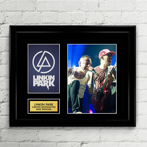 Linkin Park Chester Bennington Mike Shinoda Autograph - Hybrid Theory, Meteora, Minutes to Midnight - Poster Signed Art Print Artwork