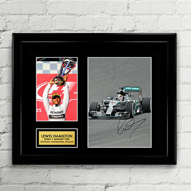 Lewis Hamilton - Mercedes AMG Petronas - Formula One F1 Autograph Signed Poster Art Print Artwork