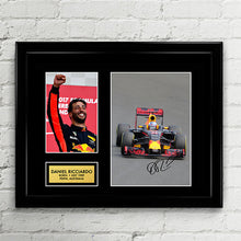 Daniel Ricciardo - Red Bull Racing - Formula One F1 Autograph Signed Poster Art Print Artwork