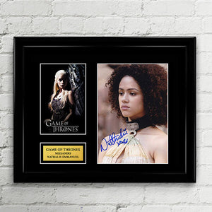 Missandei - Nathalie Emmanuel - Autograph Signed Poster Art Print Artwork - Game of Thrones