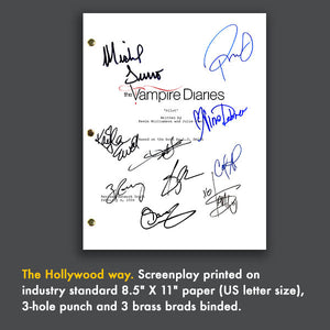 Vampire Diaries TV Show Pilot Script Screenplay Signed Autograph Reprint -  Paul Wesley, Ian Somerhalder, Zach Roerig, Nina Dobrev