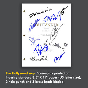 Outlander TV Signed Autographed Screenplay Script - Caitriona Balfe - Sam Heughan - Duncan Lacroix - Tobias Menzies