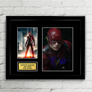 The Flash - Ezra Miller - Justice League Autograph Signed Poster Art Print Artwork -