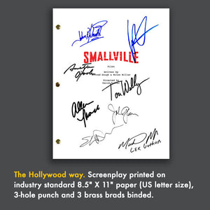 SMALLVILLE TV Script Pilot Episode Screenplay Signed Autograph Reprint - Tom Welling, Kristen Kreuk Superman Clark Kent Lana Lang Lex Luthor