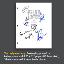 PEAKY BLINDERS Pilot Episode Tv Script Screenplay Signed Autograph Reprint - Cillian Murphy, Paul Anderson, Thomas Shelby, Arthur Shelby