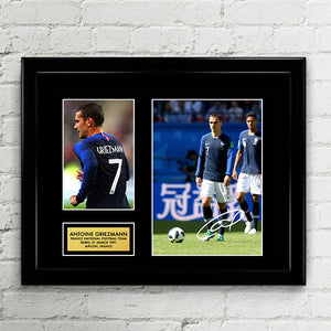 Antoine Griezmann - France National Football Team - Fifa World Cup 2018 Signed Poster Art Print Artwork
