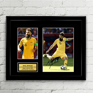 Mile Jedinak - Australia National Football Team Socceroos - Fifa World Cup 2018 Signed Poster Art Print Artwork - Tim Cahill