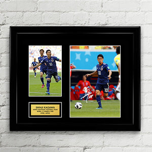 Shinji Kagawa - Japan National Football Team - Fifa World Cup 2018 - Signed Poster Art Print Artwork