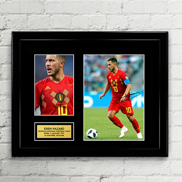 Eden Hazard - Belgium National Football Team -  Fifa World Cup 2018 - Signed Poster Art Print Artwork