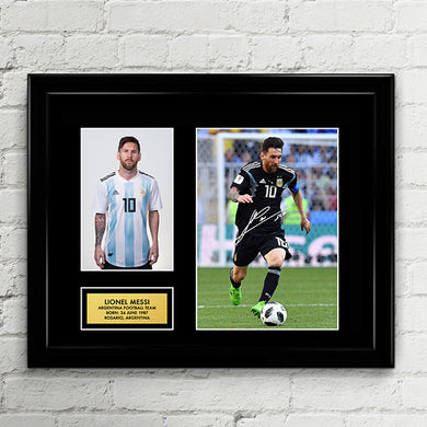 Lionel Messi - Argentina National Football Team - Fifa World Cup 2018 Signed Poster Art Print Artwork