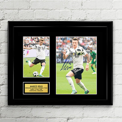 Marco Reus - Germany National Football Team - Fifa World Cup 2018 Signed Poster Art Print Artwork - Marco Reus