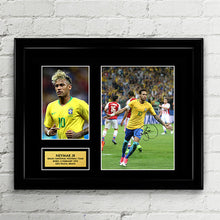 Neymar Jr - Brazil National Football Team - Fifa World Cup 2018 Signed Poster Art Print Artwork