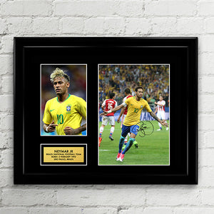 Neymar Jr - Brazil National Football Team - Fifa World Cup 2018 Signed  Poster Art Print e286a7ecf