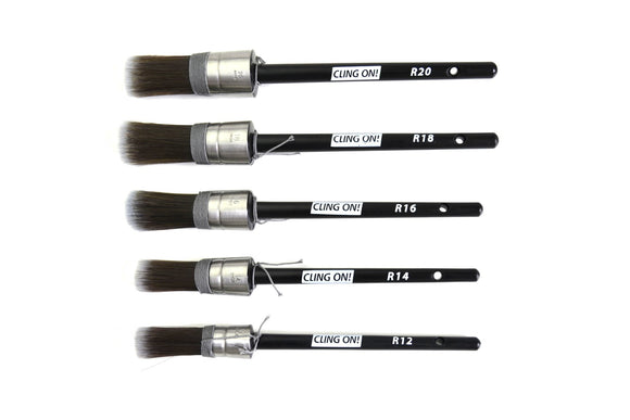 Cling On! Round Paint Brushes