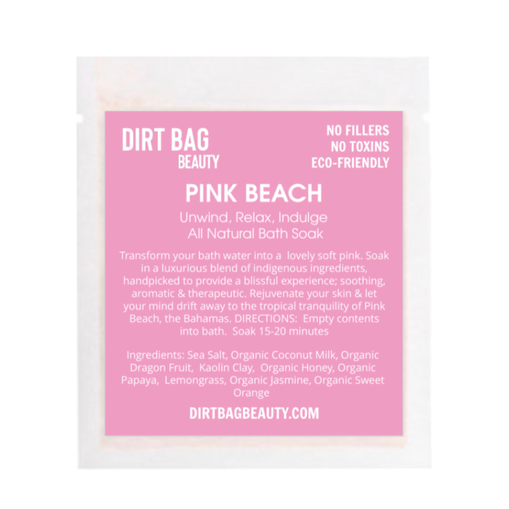 Pink Beach Bath Soak Single use
