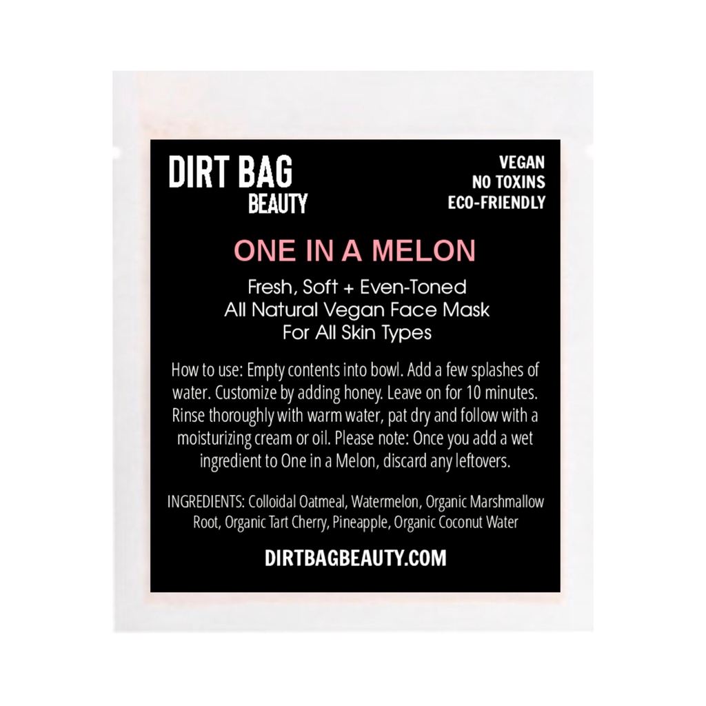 NEW! One in a Melon Vegan Facial Mask - DIRT BAG® BEAUTY