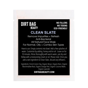 Clean Slate Vegan Facial Mask - DIRT BAG® BEAUTY