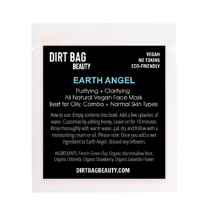 Earth Angel Vegan Facial Mask Single Use