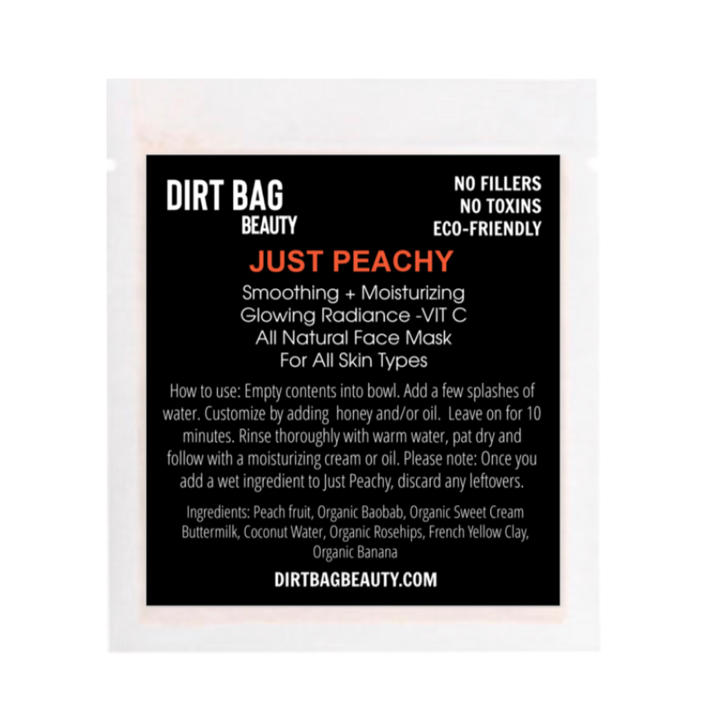 Just Peachy Facial Mask Single use
