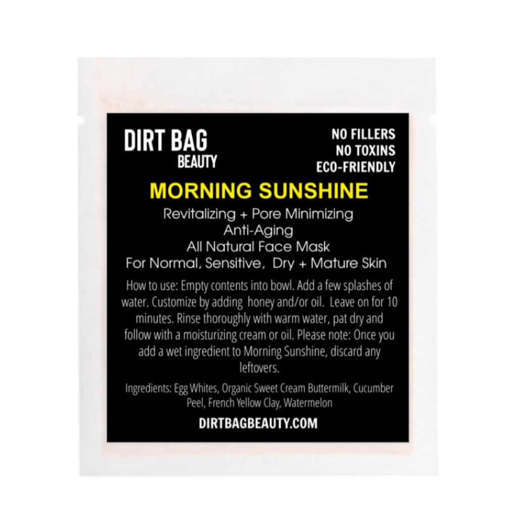 Morning Sunshine Facial Mask - DIRT BAG® BEAUTY