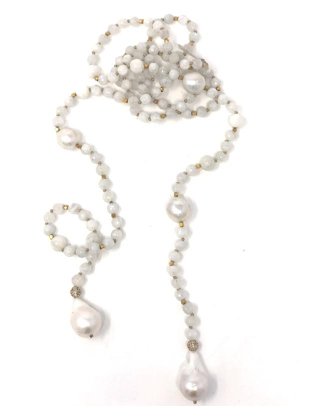 in2 Design Iselia Baroque Pearl/Mother-of-Pearl Lariat