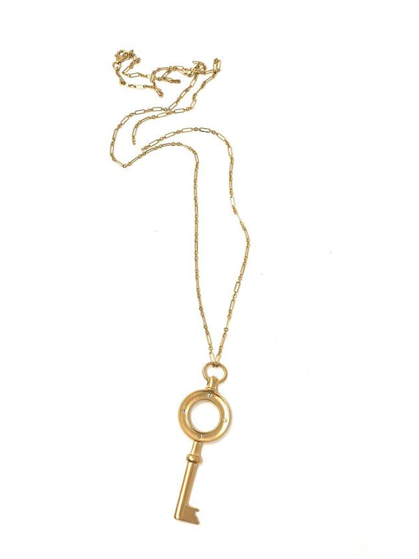 La Soula 14K Le Emil Key Necklace