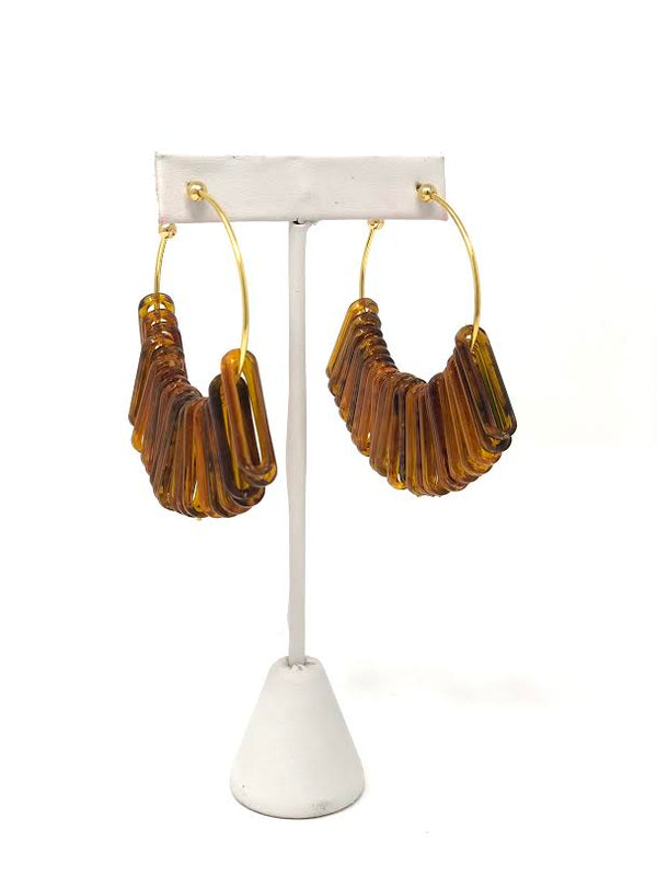 Sylvia Benson Winnie Hoop Tortoise Earrings