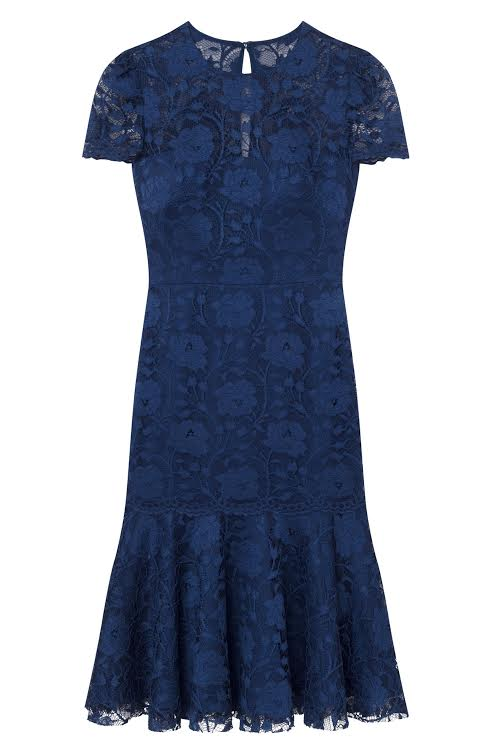 Gal Meets Glam Nouveau Lace Midi Sheath Dress