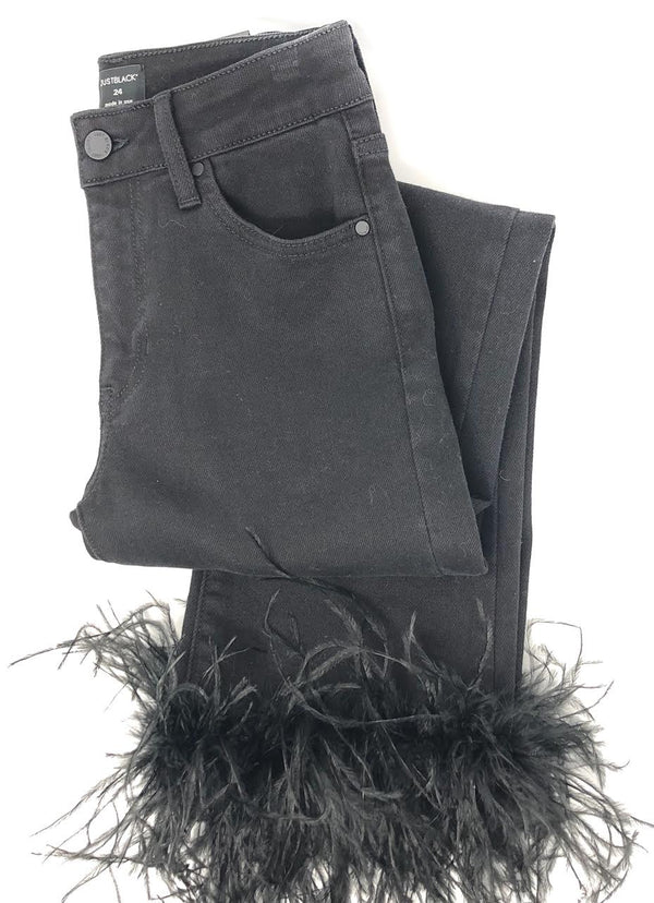 Just Black Denim Feather Jeans