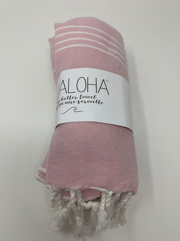 Lualoha Classic Collection  Powder Pink Turkish Towel