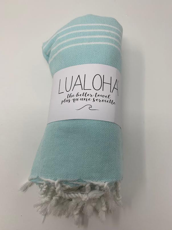 Lualoha Classic Collection  Bright Mint Turkish Towel