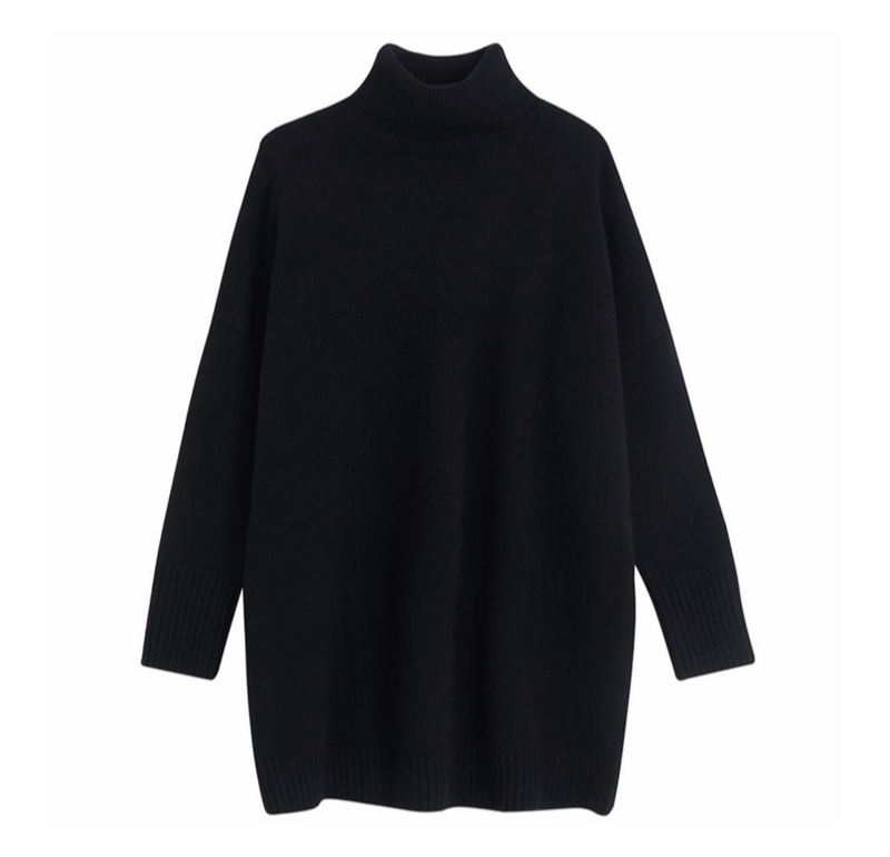 Jumper Oversized Roll Collar Sweater