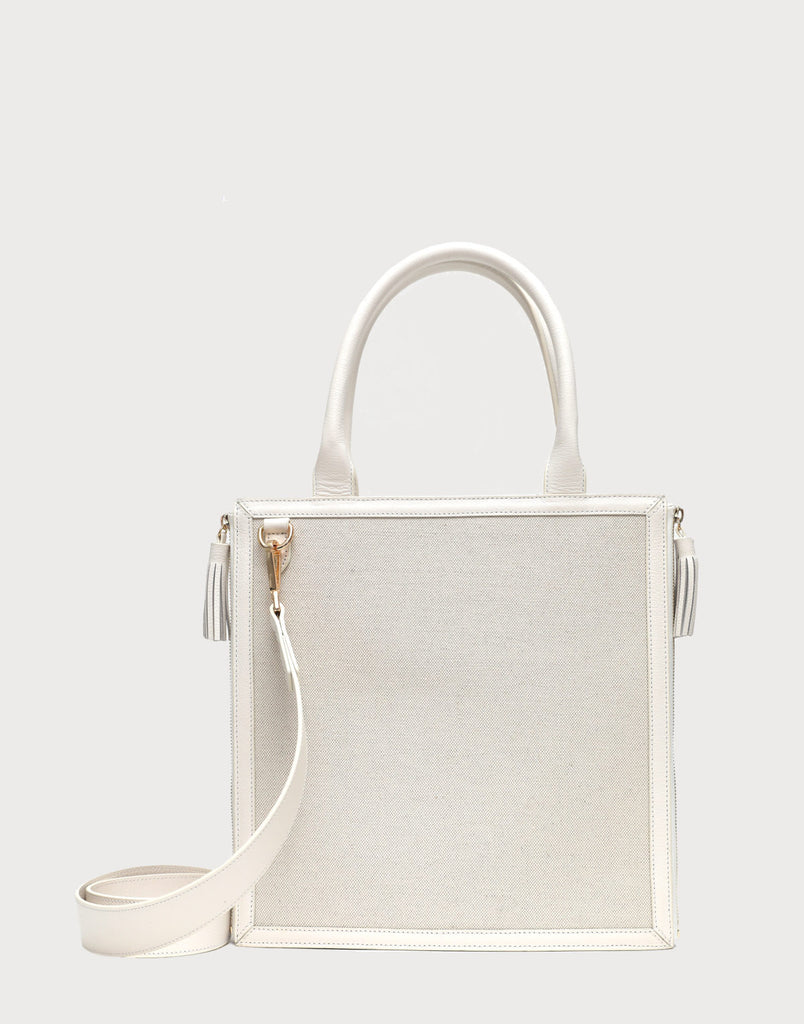 Neely and Chloe No. 61 Monday Tote White