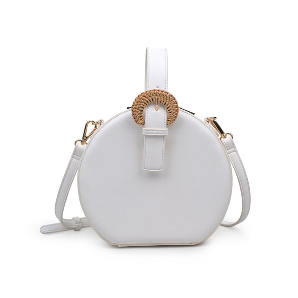 Millie Small Top Handle Crossbody - White