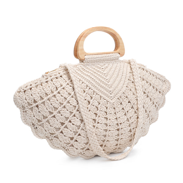 Seychelles Scalloped Handbag - Ivory