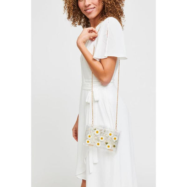 Floral Box Bag - White Daisy