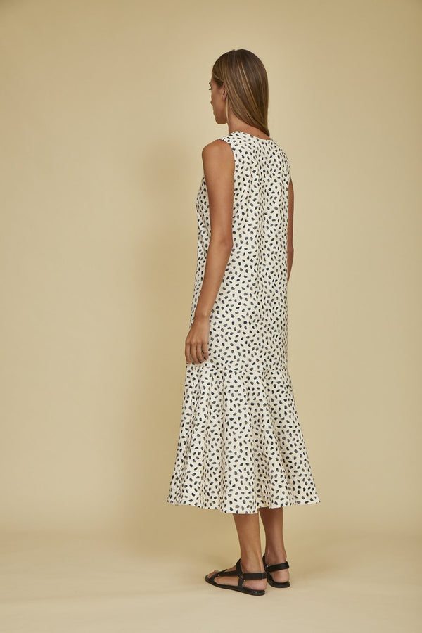 Hunter Bell Jenson Dress - Pebble