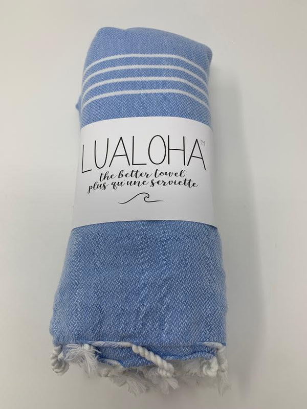 Lualoha Classic Collection  Sky Blue Turkish Towel