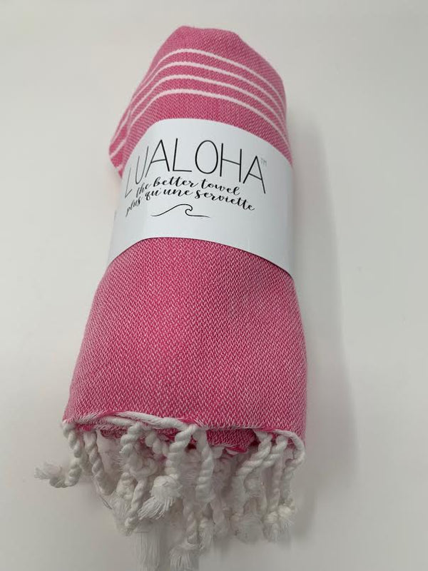 Lualoha Classic Collection  Hot Pink Turkish Towel