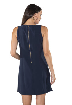 Sail to Sable Shift Dress with Pockets