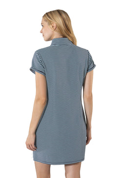Sail to Sable Short Sleeve Button Dress