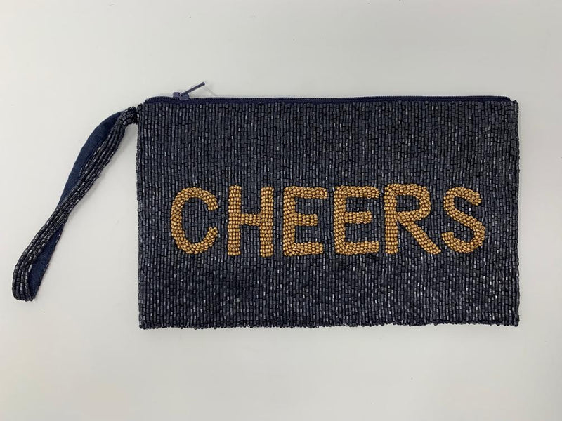 Moyna D.Navy/M.Gold (Cheers) Wristlet