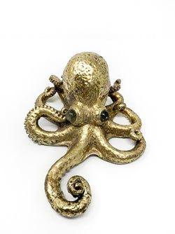 Contrast Inc Small Gold Leaf Octupus